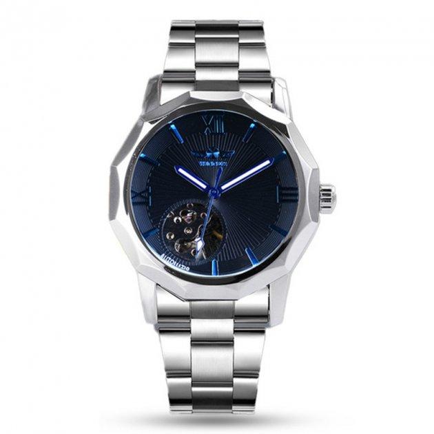 Часы мужские T-WINNER W090907 наручные с стальным ремешком скелетон Silver - изображение 1