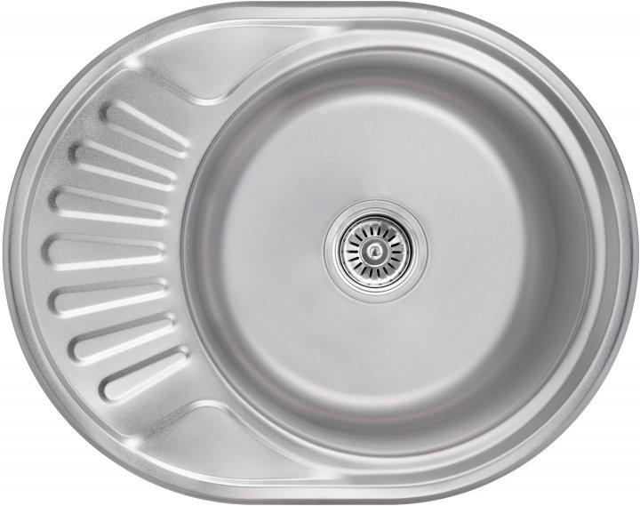 Кухонна мийка LIDZ 5745 Satin 0.8 мм (LIDZ5745SAT08) - зображення 1