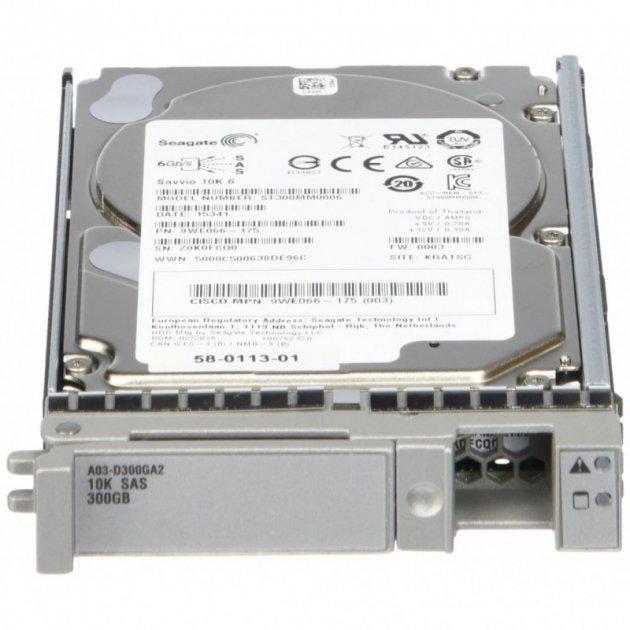 """Cisco Cisco 300GB 10K 6G 64MB 2.5"""" SAS SERVER HDD (58-0113-01) Refurbished - зображення 1"""