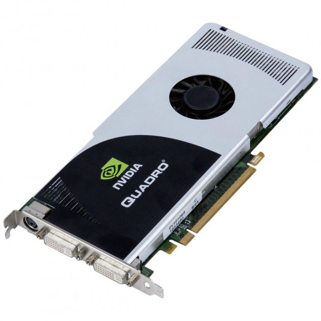 Відеокарта HP Grafikkarte Quadro FX 3700 PCI-E x16 512MB SLI - dual-DVI - (462790-001) Refurbished - зображення 1