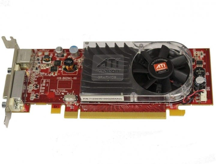 ATI відеокарта ATI RADEON 256MB PCI EXPRESS DMS-59 S-VIDEO GRAPHICS CARD (7120035100G) Refurbished - зображення 1