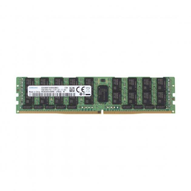 Оперативная память Samsung SAMSUNG 64GB (1*64GB) 4RX4 PC4-17000P-L DDR4-2133 LRDIMM (M386A8K40BMB-CPB) Refurbished - изображение 1