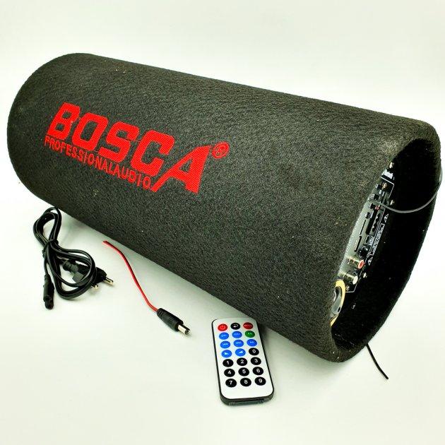 """Колонка беспроводная Сабвуфер 6"""" Bluetooth FM 12В и 220В 600W BOSCA черная - зображення 1"""