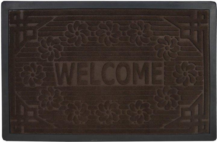 Придверный коврик Мой Дом Welcome 50х80 Коричневый (TZR01458/Br) - изображение 1