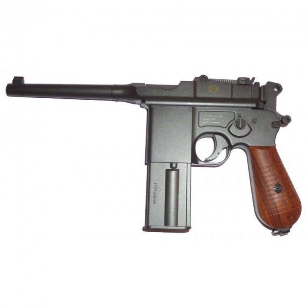 Пистолет пневматический SAS Mauser M.712 Blowback черный - изображение 1