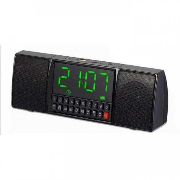 Портативна колонка Годинник USB Радіо, Bluetooth WS-1515 BT (853359811) - зображення 1