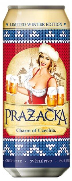Упаковка пива Prazacka світле фільтроване 4% 0.5 л х 24 шт (8594053490472) - зображення 1