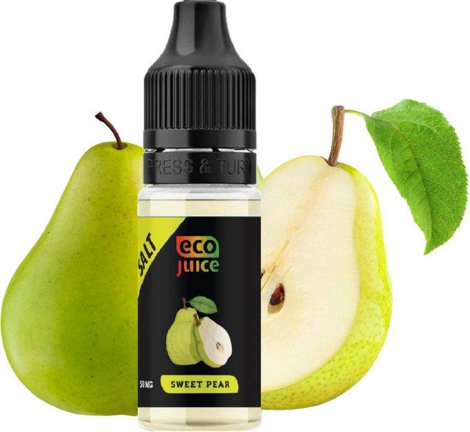 Рідина для POD систем Eco Juice Salt Sweet Pear 50 мг 10 мл (Груша) (EJS-SWP-50-10) - зображення 1