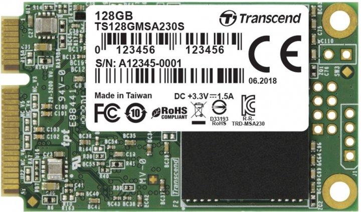 Transcend 230S 128GB mSATA 3D NAND TLC (TS128GMSA230S) - изображение 1