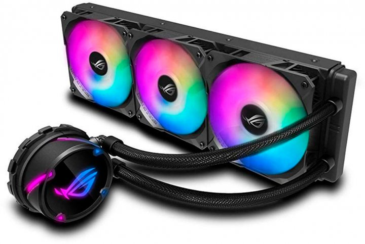 Система жидкостного охлаждения ASUS ROG Strix LC 360 Aura Sync RGB 3x120 мм fan (ROG-STRIX-LC-360-RGB) - изображение 1