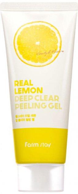 Глубоко очищающий пилинг-гель для лица FarmStay Real Lemon Deep Clear Peeling Gel 100 мл (8809426959358) - изображение 1