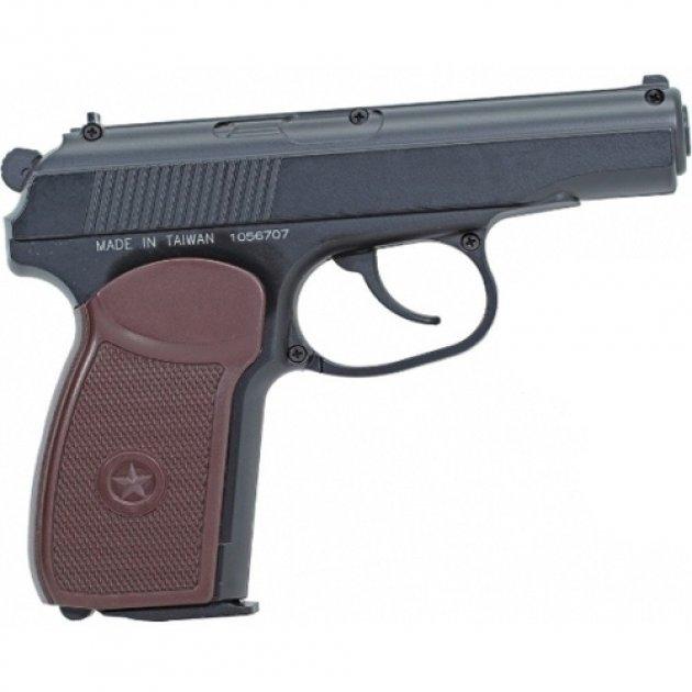 Пистолет пневматический SAS Makarov черный - изображение 1