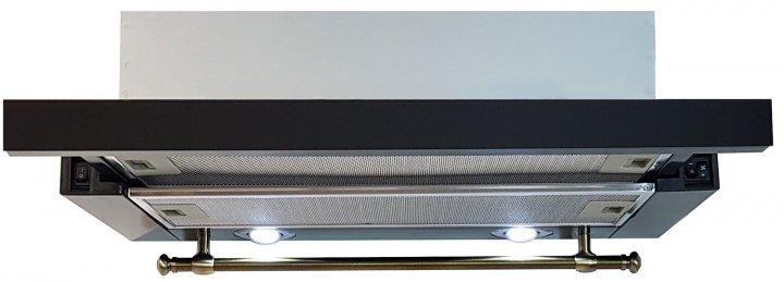 Luxor Fantom 2m V 60 BK KUP + гофротруба в комплекте черное стекло, черный - изображение 1