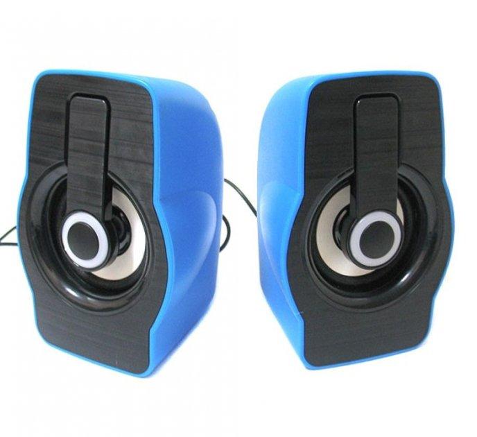 Компьютерные колонки акустика 2.0 USB 6 Вт FnT FT-185 синие - зображення 1