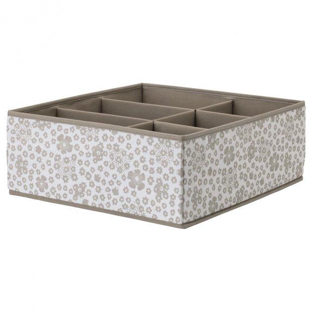 Коробка для ящика IKEA (ИКЕА) STORSTABBE 37x40x15см бежевая (604.261.75) - зображення 1