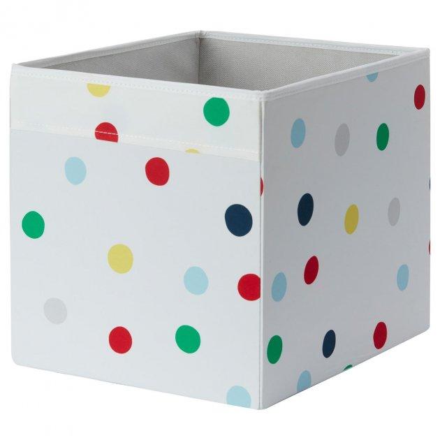 Коробка IKEA (ИКЕА) DRÖNA 33x38x33см белая с точками (603.995.15) - изображение 1