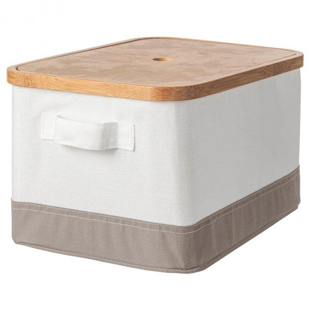 Коробка з кришкою IKEA (ІКЕА) RABBLA 25х35х20см коричнева бежева (603.481.25) - зображення 1