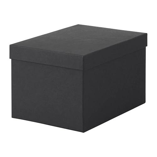 Коробка з кришкою IKEA (ІКЕА) TJENA 18х25х15см чорний (603.954.85) - зображення 1