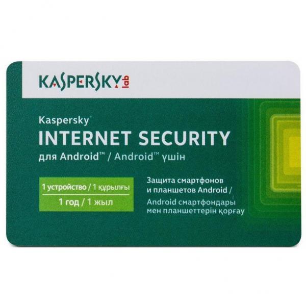 Антивірус Kaspersky Internet Security for Android 1-PDA 1 year Base Card (KL1091OOAFS17) - зображення 1
