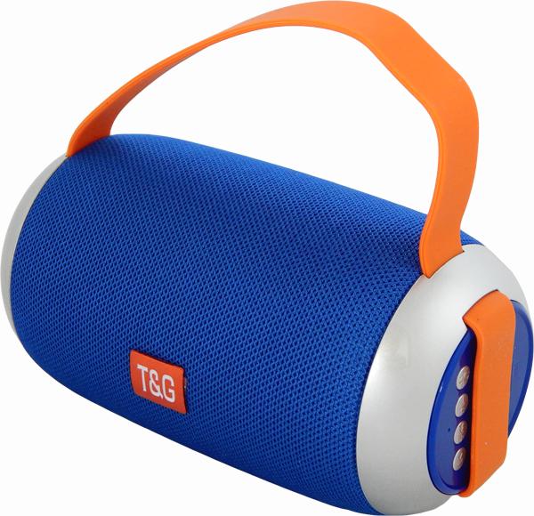 Портативна бездротова bluetooth стерео колонка T&G TG112 Синя (112 Blue) - зображення 1