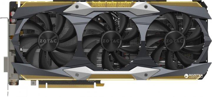 Zotac PCI-Ex GeForce GTX 1080 Ti AMP Extreme 11GB GDDR5X (352bit) (1645/11200) (DVI, HDMI, 3 x DisplayPort) (ZT-P10810C-10P) - изображение 1