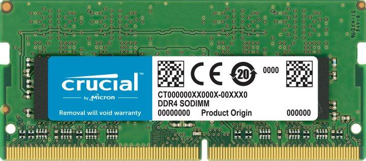 Оперативна пам'ять Crucial SODIMM DDR4-2666 16384MB PC4-21300 (CT16G4S266M) - зображення 1