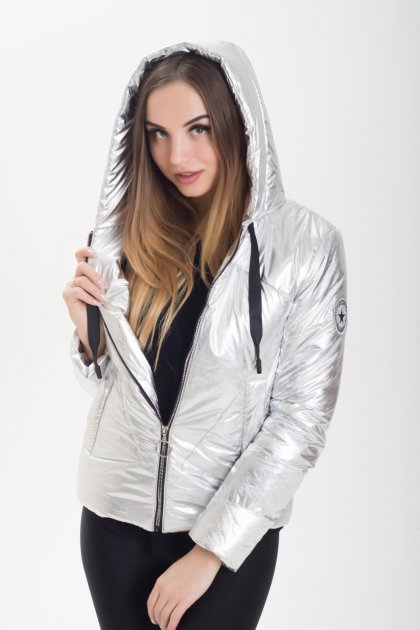Демисезонная женская куртка KML K 00191 /01 (46) M Серебристо-светлый (K 00191 /01 C) - изображение 1