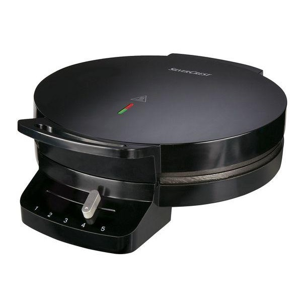 Вафельниця електрична Silver Crest SWE 1200 C3 black для бельгійських вафель + термостатом - зображення 1