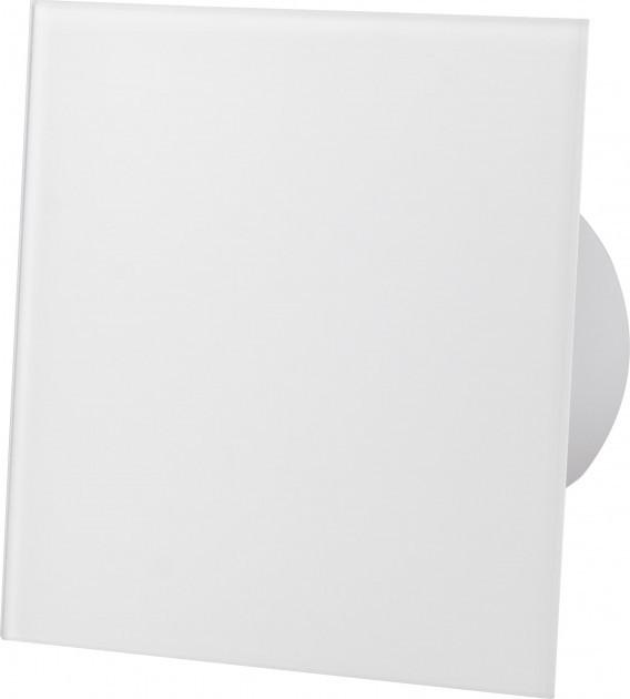 Вытяжной вентилятор AirRoxy dRim 100 PS BB Белое стекло, с шнурковым выключателем. - изображение 1