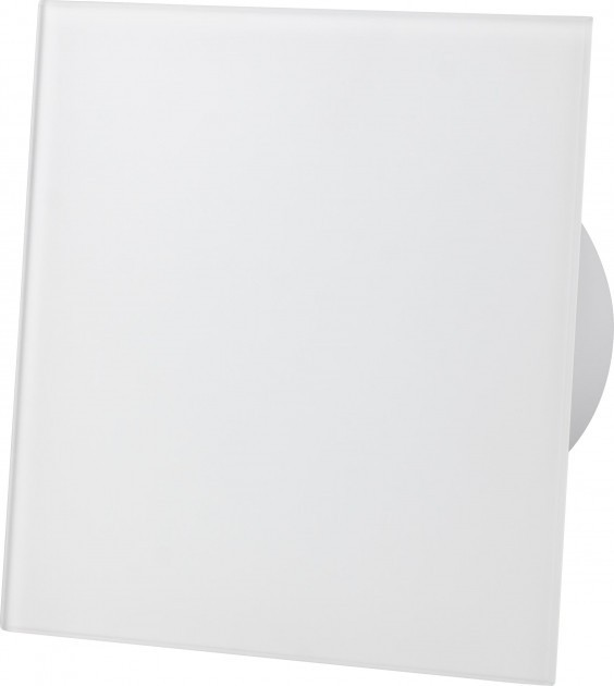 Вытяжной вентилятор AirRoxy dRim 100 HS BB Белое стекло матовый, с датчиком влажности и таймером. - изображение 1