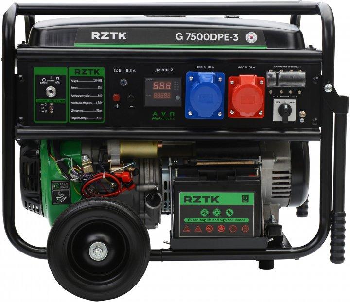 Генератор бензиновый RZTK G 7500DPE-3 - изображение 1