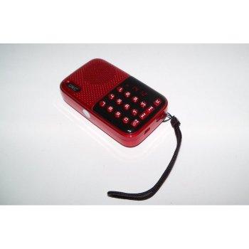 Радіо з годинником UKC SPS U11 (JF11) NEW MP3, червоний