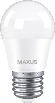 Лампа світлодіодна MAXUS G45 7 Вт 4100 K 220 В E27 (1-LED-746)