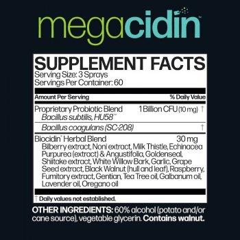 Спрей для полости рта Microbiome Labs MegaCidin 30 мл