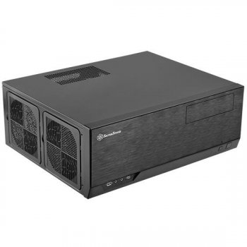 Корпус SilverStone GRANDIA GD09B,Extended ATX / SSI-EEB, USB3.0*2,1*120мм,безБП,чорний