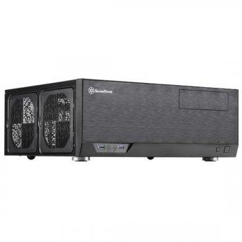 Корпус SilverStone GRANDIA GD09B-C,Extended ATX/SSI-EEB,USB3.0*1,USB Type-C *1,1*120мм,безБП,чорний