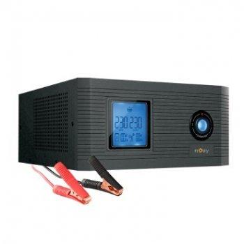 ДБЖ NJOY Aira 600 (UPCSTLP860TAICP01B), Lin.int., 2 x Schuko, LCD, пластик
