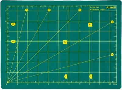 Килимок самовідновний для різання Axent Pro сантиметрова та дюймова шкала А4 (7907-A)