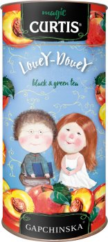 Чай Curtis зеленый Lovey Dovey со вкусом персика 80 г (4823063706599)