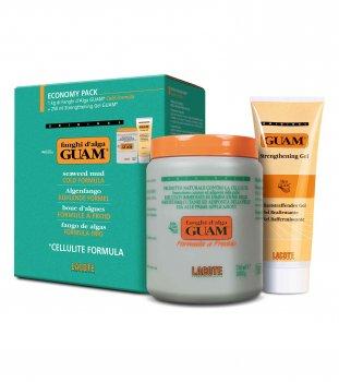 Набор GUAM для обертывания из водорослей Маска антицеллюлитная Холодная формула 1 кг + Гель GUAM подтягивающий 250 мл (81046)