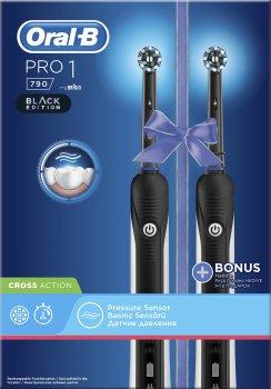 Набір електричних зубних щіток ORAL-B Braun PRO 1 / 790 x2 Black (4210201298489)