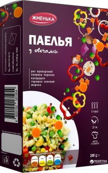 Упаковка паэльи Жменька с овощами 200 г х 12 шт (4820152182081)