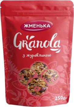 Упаковка гранолы Жменька с Клюквой 250 г х 12 шт (4820152182241)
