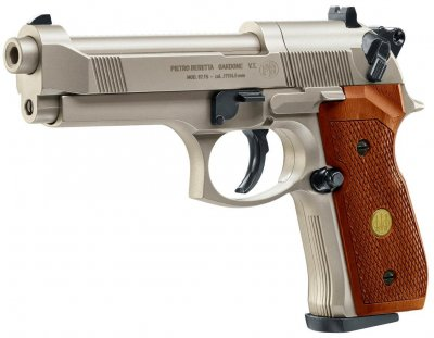 Пистолет пневматический Umarex Beretta 92 FS никель-древо (419.00.03)