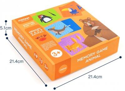 Настільна гра на запам'ятовування MiDeer Звірята 36 карток (MD2032)