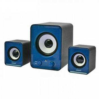 Колонки для ПК комп'ютерні колонки GBX 2.1 Mini IS-12 Blue (007117)