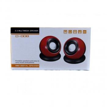 USB колонки для ПК SPS D008 GBX (005765) Red