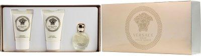 Набор для женщин Versace Eros Pour Femme парфюмированная вода 5 мл + лосьон для тела 25 мл + гель для душа 25 мл (8011003823574)