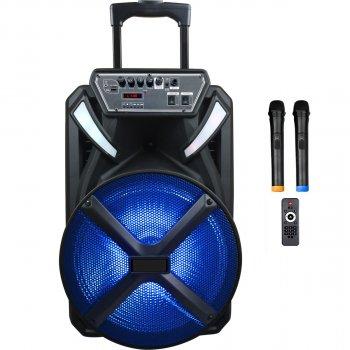 Автономная активная акустическая система BiG 230BAT два радио микрофона, караоке