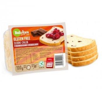 Хлеб Balviten сладкий с кусочками шоколада 100г